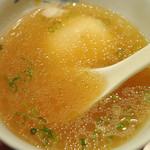 牛ぎゅう - テールスープ(半熟卵入)