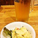 かぶら屋 - 2014.3.30再訪 ポテサラと生ビール