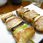 庄兵衛 - バラ肉ネギ(1本)130円
