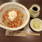 25631088 - 桜海老唐揚げと辛味大根の蕎麦