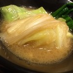 らしか - 2014.03鍋(味噌) 取り分け後1