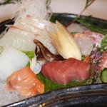 魚菜えぼし庵・隠座 - お刺身盛り合わせ