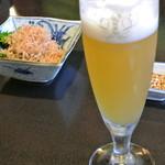 本むら庵 - 生ビール 白穂乃香(756円)