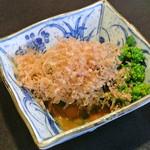 本むら庵 - 菜の花の辛子和え(735円)