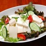 白出汁と山葵の和風豆腐サラダ
