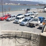 山ぼたん - 駐車場は、飲食店長屋、共用!!