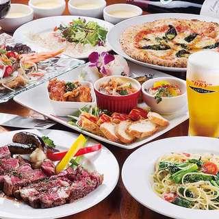 イタリアンを中心とした世界各国の料理が味わえます。
