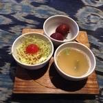 バルパサール  - ランチのサラダ、スープ、フルーツ