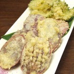 ゴーヤと紅芋の天ぷら