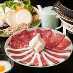 馬並み家 新橋 - 馬肉のすき焼き「歌麿鍋」