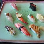 25660650 - 特上寿司-写真を撮る前に雲丹軍艦を食べてしまった^^;