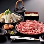 黒豚料理 あぢもり - 登録商標 黒しゃぶ維新コースです。