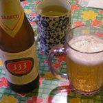 25668718 - 333ビール、蓮茶