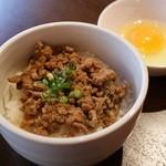 ひき肉温玉のせご飯