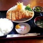 かつ亭石川 - ロースカツセットランチ☆1000円(2013/7)