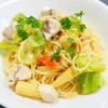 ジオ オーガニックカフェ - 料理写真:2014年春の新作パスタ!!カジキマグロと春野菜のレモン風味。程良い酸味がクセになりますよ~