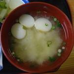 海鮮食堂 中じま - おふ入りのお味噌汁