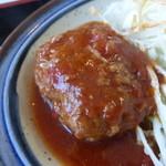 みうらや - 焼肉+ミニハンバーグセット定食¥850