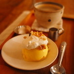 cafe zakka  hinatabocco - ランチのデザートと珈琲