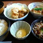 Kagonoya - ある日の日替わり・から揚げ、肉豆腐、そば・・・