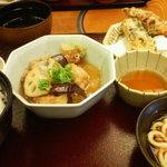 Kagonoya - ある日の日替わり・揚げ出し豆腐、天ぷら、うどん・・・。