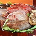 串焼き・魚 新宿宮川 - 旬の産直地魚のプリプリの食感はたまりません!