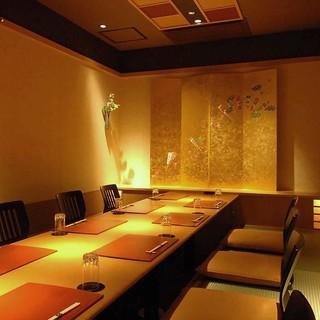 【全室完全個室】ご接待やご宴会、会食のお席に最適です