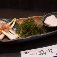 琉の介 - 本日の前菜三種盛り合わせ