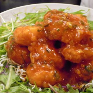 劉家荘 - 料理写真:海老のチリソース