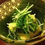 しぐれ茶屋 侘助 - お揚げさんと菜っ葉の炊いたん