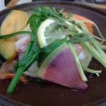 しゃんしゃん 龍 - 赤魚と海老真丈のステーキ