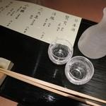 手打ち十割そば 振甫町 縁 - 三河幡豆の純米酒辛口 活鱗で蕎麦前です★