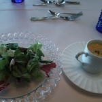 グリル 木の実 - サラダとポタージュスープ