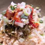 凛音 - チャンジャと高菜のジャコ葱豆腐