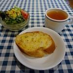 BASTA - サラダ、スープ、ガーリックトースト