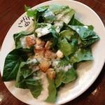 にんにくや - ランチ付属のサラダ。2014年3月
