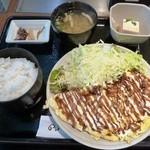 お好み焼 のんの - とん平焼き定食 700円