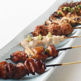 国産地鶏使用。素材にこだわる串焼きは余韻の残る味わいです