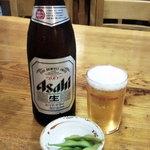 やなぎ家 - まずはビール