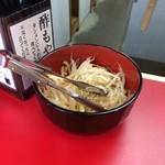 元祖タンメン屋 - 無料の酢もやし