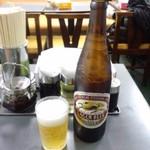三幸苑 - まずはお約束のビール