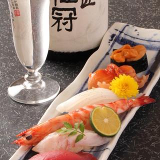 拘りの日本酒は種類豊富にご用意しております。
