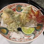 日本料理にわの - 揚げ物(白子・クレソン・もみじ)
