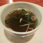 江の島 はまや - つけ麺は食べ終わるとスープを入れてもらえました。 (2009_7_25 撮影)