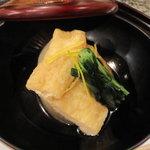 日本料理にわの - 煮物(丸大根・柚子・みず菜)