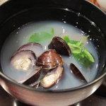 日本料理にわの - 十三湖産シジミのお吸い物