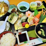 後楽 - 料理写真:夕食(ワンプレートの刺身御膳)