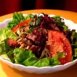 まんま みじんこ洞 - キノコとベーコンのサラダ…600