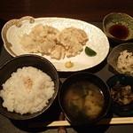 輝 - 鶏天定食 980円