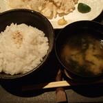 輝 - ご飯・味噌汁